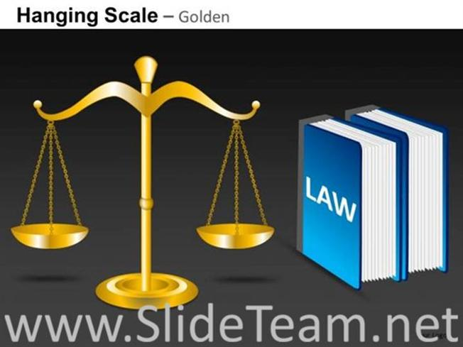 Scale Of Justice PPT Template-PowerPoint Diagram