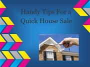 Handy Tips For a Quick House Sale