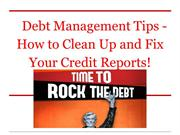 Debt Management Tips