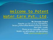 Potent water care Pvt Ltd.