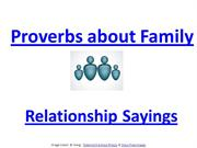 Family Sayings