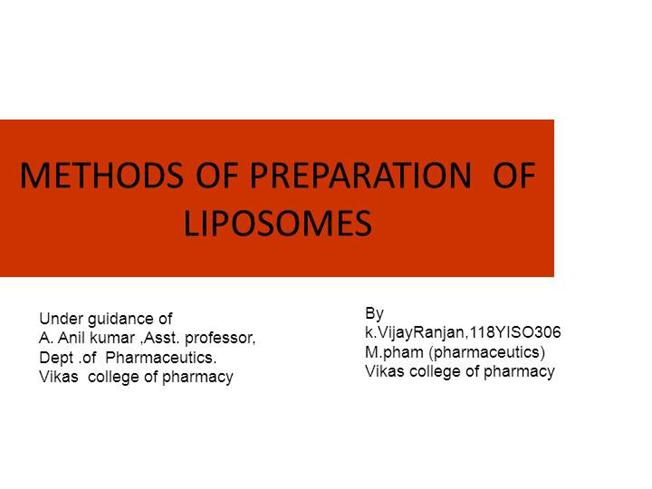 Ppt] liposomes types, mechanism,sizing and preparation pharmawiki. In.
