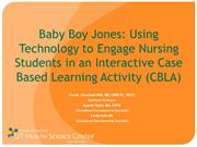 Baby Boy Jones: Using Technology to Engage Nursing Students
