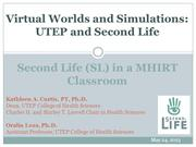 Virtual Worlds and Simulations
