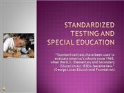 Standardized testing and special educati
