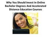 Why You Should Invest In Online Bachelor Degrees