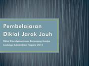 Diklat Jarak Jauh April 2013