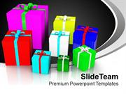 Colorful Presents Festival Holidays PowerPoint Templates PPT Themes An