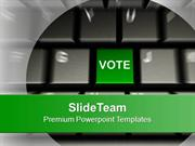 Computer Keyboard With Vote Button Election PowerPoint Templates PPT T