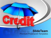 Credit Under Umbrella Finance Shopping PowerPoint Templates PPT Themes