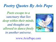 Poetry Quotes By Avis Pope