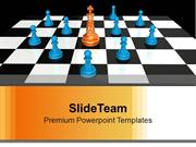 Golden King With Pawns Leadership PowerPoint Templates PPT Themes And