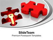 Solution Key Under Puzzle Problem PowerPoint Templates PPT Themes And