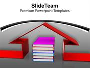 Book And House Conceptually Education PowerPoint Templates PPT Themes