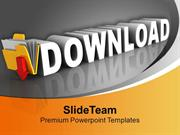 Download Icon On Black Background Internet PowerPoint Templates PPT Th