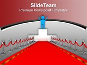 Award Winner Red Carpet Leadership PowerPoint Templates PPT Themes And