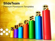 3d Illustration Of Business Graph Success PowerPoint Templates PPT The