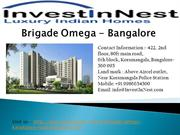 Brigade Omega Call@9686755887, Apartments For Sale - Bangalore