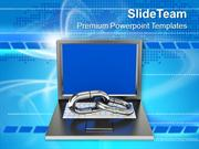Internet Links To Networking Communication PowerPoint Templates PPT Th