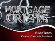 Mortgage Crisis Stock Market Investment PowerPoint Templates PPT Theme