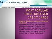 Most Popular Three Discover Credit Cards