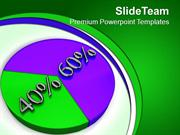 Percentage Of Pie Chart Marketing PowerPoint Templates PPT Themes And