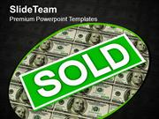 Sold Over Dollar Money Real Estate Concept PowerPoint Templates PPT Th