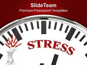 White Clock With Stress Business PowerPoint Templates PPT Themes And G
