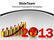 3d Image Of High Business Profit Year PowerPoint Templates PPT Backgro