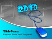2013 Connected To Computer Mouse PowerPoint Templates PPT Backgrounds