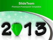 2013 In Black With Green Capsicum PowerPoint Templates PPT Backgrounds