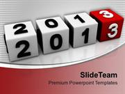 2013 New Year Cubes PowerPoint Templates PPT Backgrounds For Slides 01