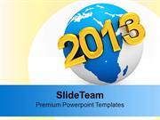 2013 New Year On Earth Globe PowerPoint Templates PPT Backgrounds For