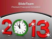 Alarm Clock New Year Festival PowerPoint Templates PPT Backgrounds For