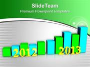 Business Growth Per Year 2012 To 2013 PowerPoint Templates PPT Backgro
