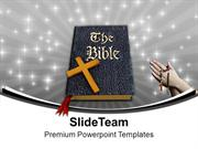 Holy Bible And Cross Christianity PowerPoint Templates PPT Backgrounds