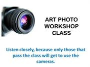 Camera Workshop for Elementary Students