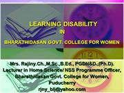 LEARNING DISABILITY FINAL