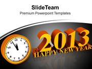 New Year Midnight Design Layout PowerPoint Templates PPT Backgrounds F