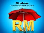 Alphabets RM Under Red Umbrella PowerPoint Templates PPT Themes And Gr