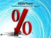An Illustration Of Falling Percent Symbol PowerPoint Templates PPT The