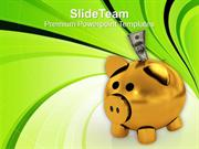 Business Savings In Piggy Bank PowerPoint Templates PPT Themes And Gra