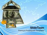 Image Of House Key And Money Home PowerPoint Templates PPT Themes And