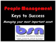 PEOPLE MANAGEMENT: Keys to Success