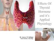 Thyroid hormone:Mechanism of action