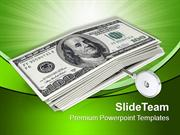 Illustration Of American Dollars With Key PowerPoint Templates PPT The