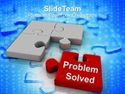 Image Of Puzzle Pieces Problem Solved PowerPoint Templates PPT Themes