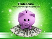 Piggy Bank Investment Of Money PowerPoint Templates PPT Themes And Gra