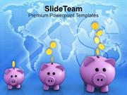 Piggy Banks Increase In Savings PowerPoint Templates PPT Themes And Gr