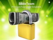 Podlock And US Dollar Investment Concept PowerPoint Templates PPT Them